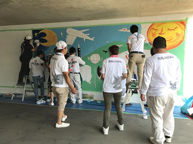 千葉県成田市 トンネルアートボランティア